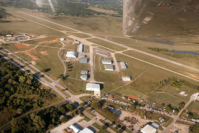 This image shows the Ada Municipal Airport and, near the bottom of the frame, the Ada Lady Cougars softball field where I'd been working just 30 minutes earlier.