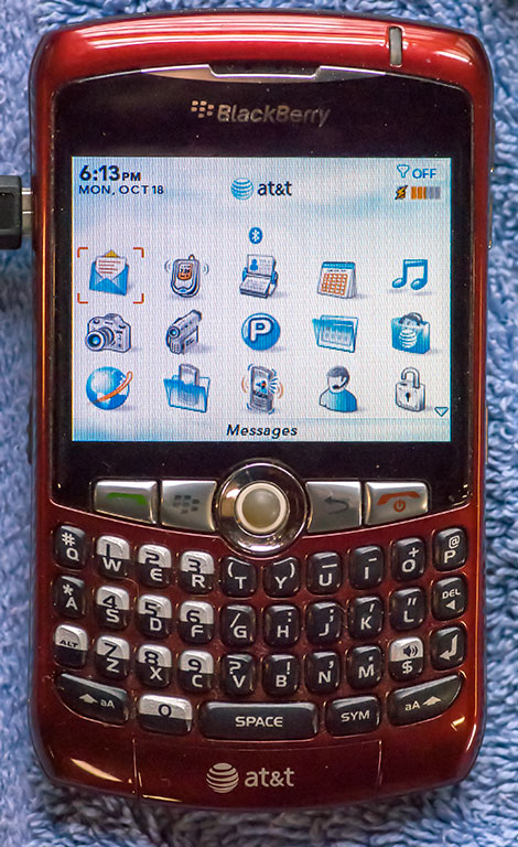 Abby had a blackberry for a while in the years leading up to her first iPhone, the 3. The Blackberry wasn't a good phone or a good smart phone.