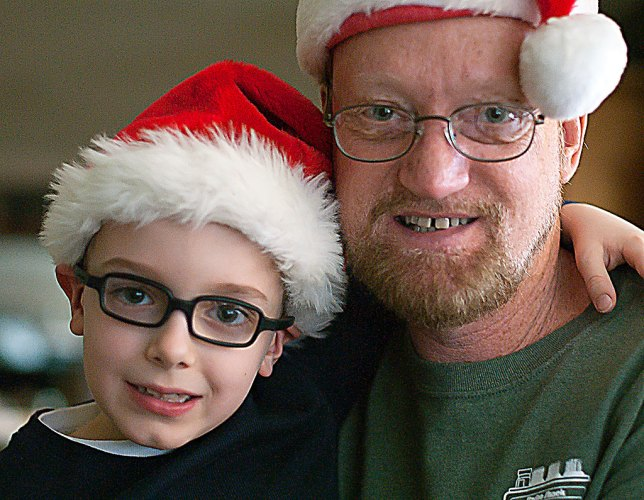 My grandson Paul and I pose for a photo. It was a fun Christmas for all, and we can't wait to have them for a visit again.