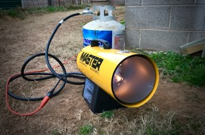 I bought this 60,000 BTU propane heater for Hawken, who is an outdoor dog. It puts out an immense amount of heat, and I feel that Hawken should be fine in the upcoming cold weather.