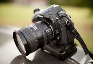 When photographers get together, there will always be cameras. This is Robert's Nikon D300.