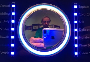 Not only was I able to fix the washer, I got to make this cool knob selfie!