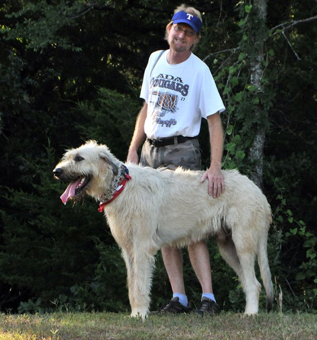 Hawken and I pose in a spot of late afternoon light above the pond. I have to say, he is a damn gorgeous animal, and a great pet and friend.