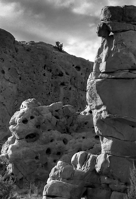 Cliffs near Cerillos, New Mexico.