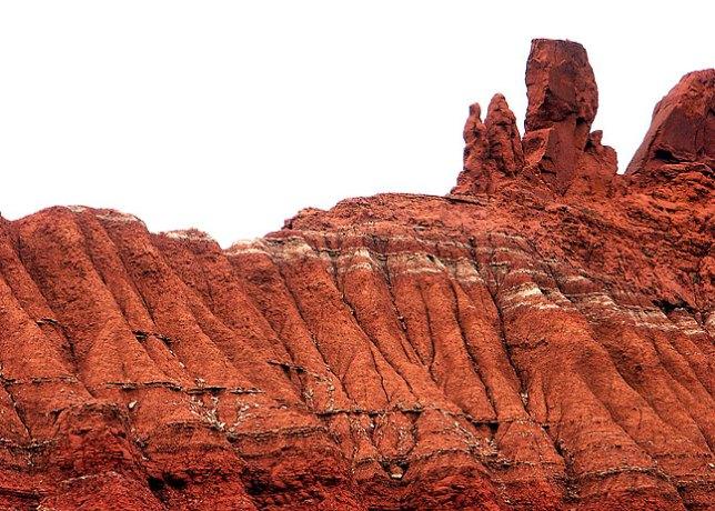 Hoodoo and erosions near the Haynes Ridge trail.