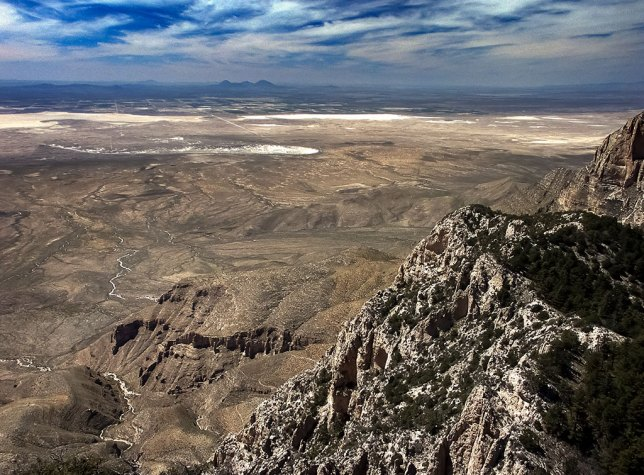 This view looks west from Guadalupe Peak.