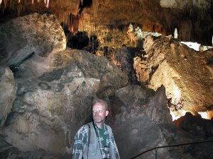The author takes the requisite hike through Carlsbad Caverns.