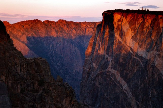 This slightly wider view of Black Canyon reveals the excellent sunrise color.