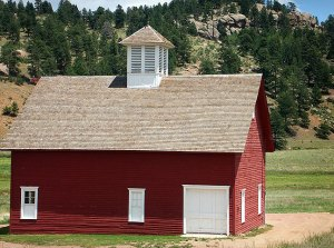 Florissant Fossil Beds National Monument included this handsomely restored homestead.