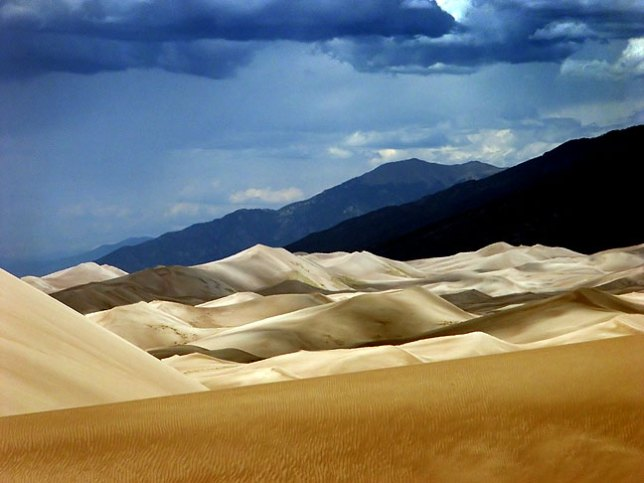 From High Dune, you can see much of the expansive dune field to the north and northwest, as well as the Sangre de Christo Mountains.