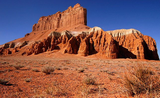 Between the San Rafael Swell and Goblin Valley is the imposing Wild Horse Butte.