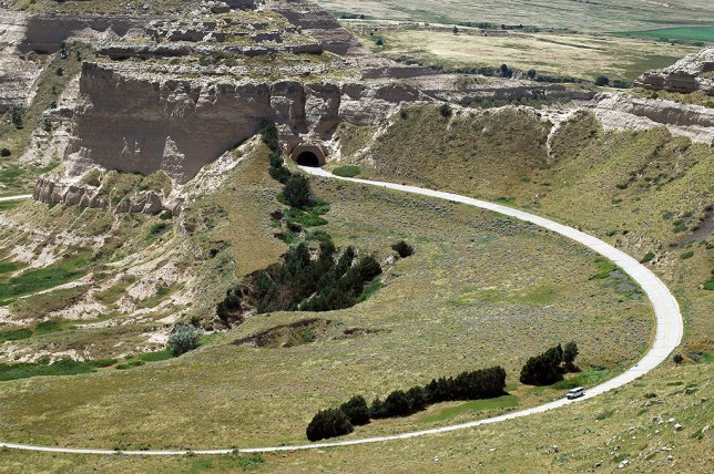 Abby made this image of the curved road leading to the top of Scott's Bluff.