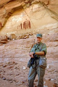 Your host poses for a photo at The Great Gallery in Horseshoe Canyon.