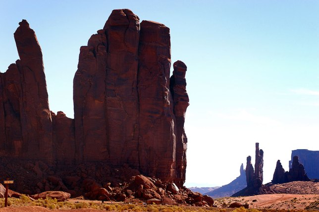 Farther down the road in Monument Valley, we photographed this handsome collection of spires.