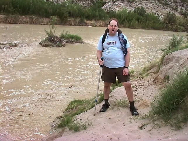 David expressed his dislike for crossing Terlingua Creek during a flash flood.