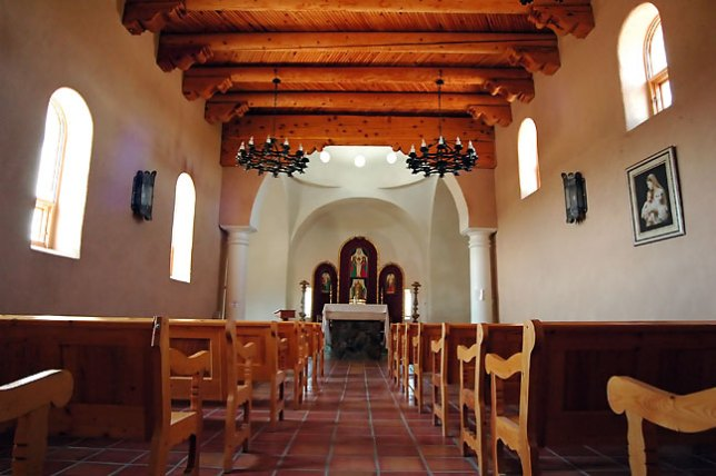 Interior, San Luis Mission and Shrine.