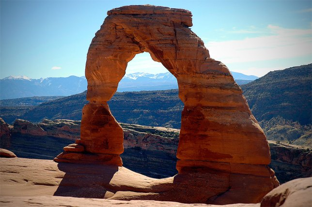 Abby shot this very nice portrait of Delicate Arch in nice midday sunshine.