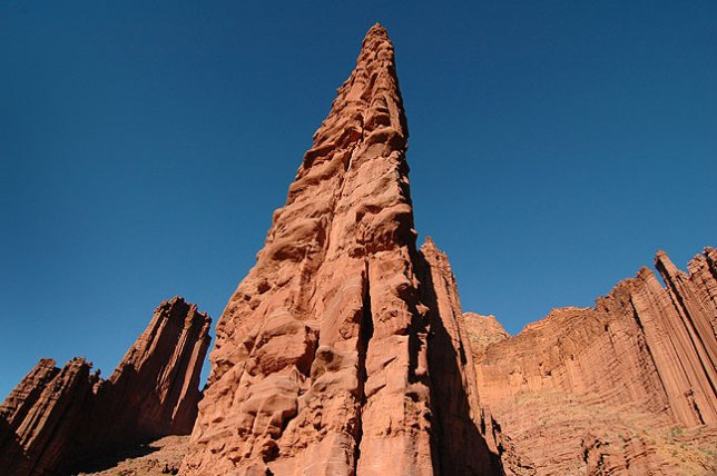 Fisher Towers, east of Moab, Utah