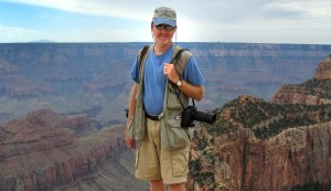 Your host poses for a photo on the North Rim of the Grand Canyon.