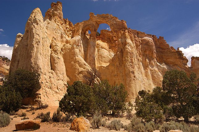 Grosvenor Arch, south of Kodachrome Basin State Park, Utah.
