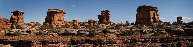 Hoodoos along the Confluence Overlook Trail