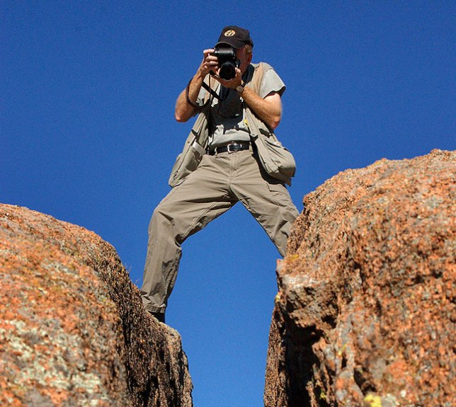 """You host photographs """"The Crack"""" from above."""