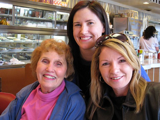 Chele, center, with her grandmother Dorothy Milligan, and lifelong friend Kim Tatum.