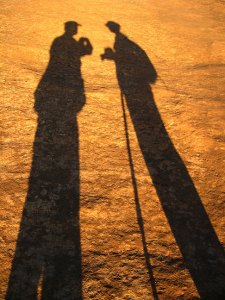 """Abby and I cast shadows on """"The Dome,"""" summoning the Led Zeppelin lyric, """"Our shadows taller than our soul."""""""