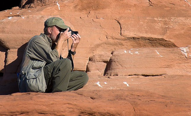 Making pictures in Arches National Park