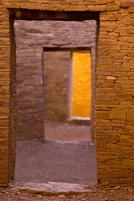 This is a tighter view of the masonry doorways; by modern standards these doors are quite small, requiring even the smallest adult to duck and squeeze through.