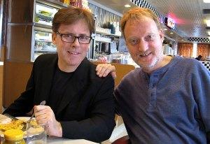 Robert and me at the Bel Loc Diner