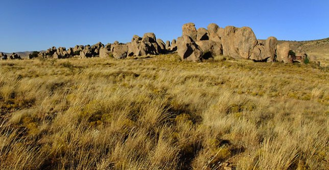 City of Rocks viewed from the west.
