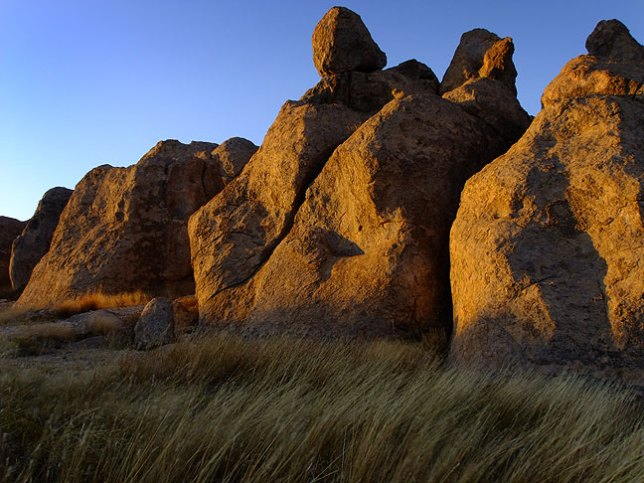 The Golden Hour arrives on the southern edge of City of Rocks.