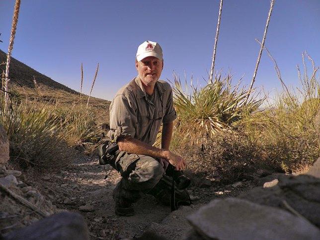 Posing in Dog Canyon, wearing my Ada Cougars ball cap.