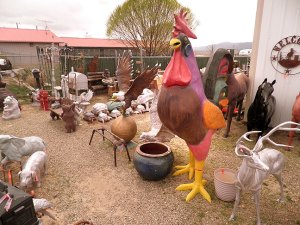 We stopped at this junk shop in Cortez, Colorado because Robert has been toying with the idea of touring the country with a giant chicken. We bought some nice gifts for our ladies at this friendly establishment, but this 10-foot-tall chicken, at $1800, was a bit out of our price range.