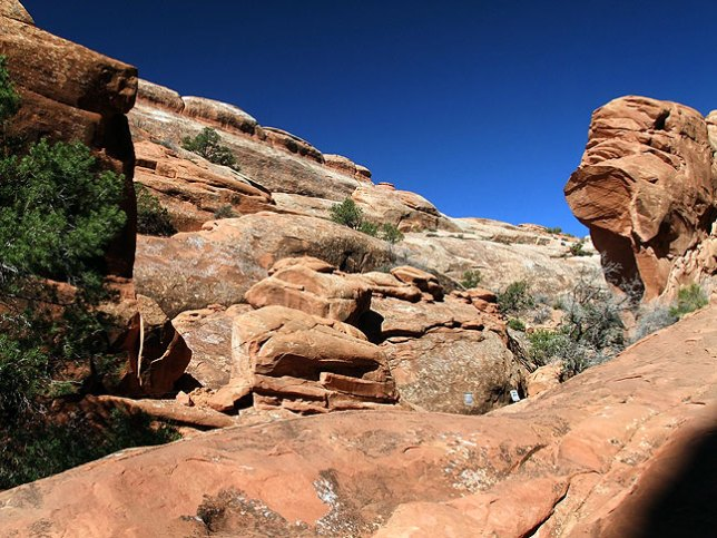 The remains of Wall Arch as it appeared on this hike.