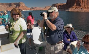 The boat ride to Rainbow Bridge was a bit on the geriatric side, but it is the only practical way to visit Rainbow Bridge National Monument.