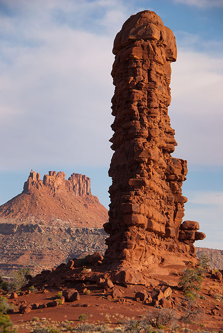 The Wall and Elaterite Butte combine in morning light to express the nature of The Maze.