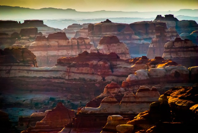 True to its name, The Maze District of Canyonlands is a complex labyrinth of canyons, benches, pinnacles, and peaks.