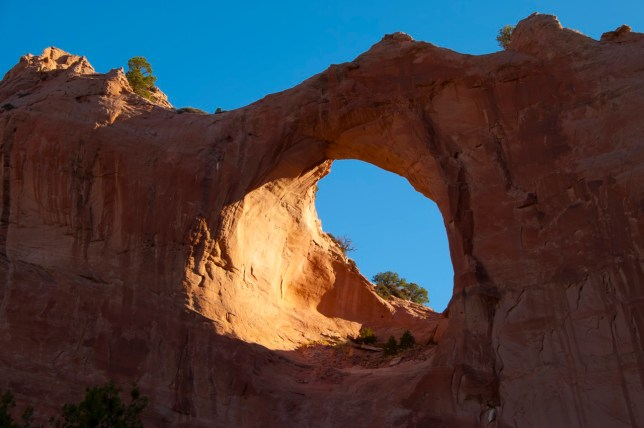 Window Rock is the home of the Navajo Nation.