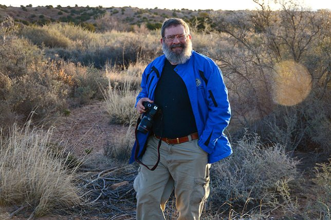 Greg smiles as we photograph first light along U.S. 550 near Cuba, New Mexico.