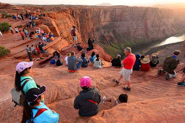 The crowds were thick at Horseshoe Bend, but everyone was cordial.