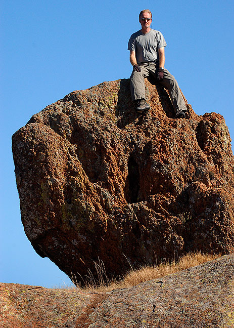 The author poses on Mitten Rock.