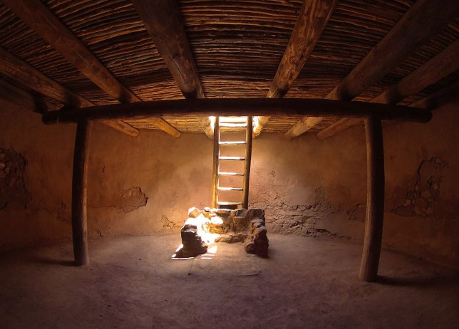 I made this image, inside a kiva at Pecos, with my Ion action cam's still frame function. Although working without viewfinder is a little awkward, it still delivers a sharp fisheye view.
