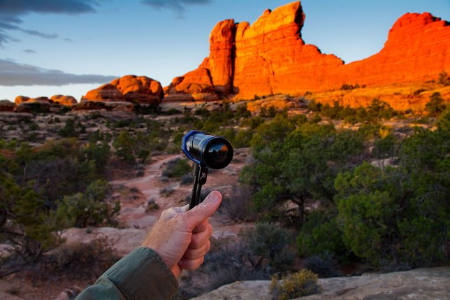 I use my Ion Air Pro 3 to make video on the Chesler Park Trail at Canyonlands at sunrise.