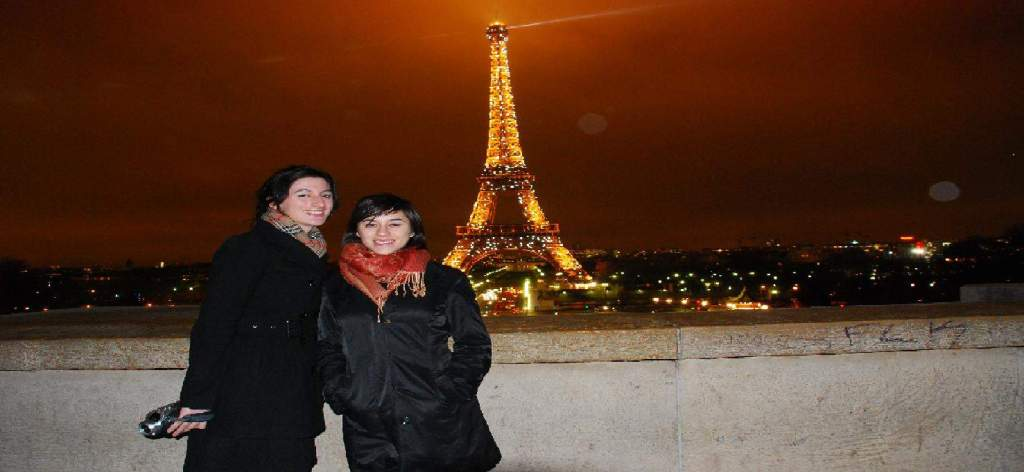 Bianca and Whitley in Paris France