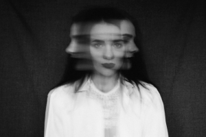 blurred image of woman