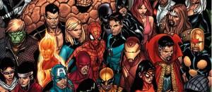 Marvel Comics superheroes.