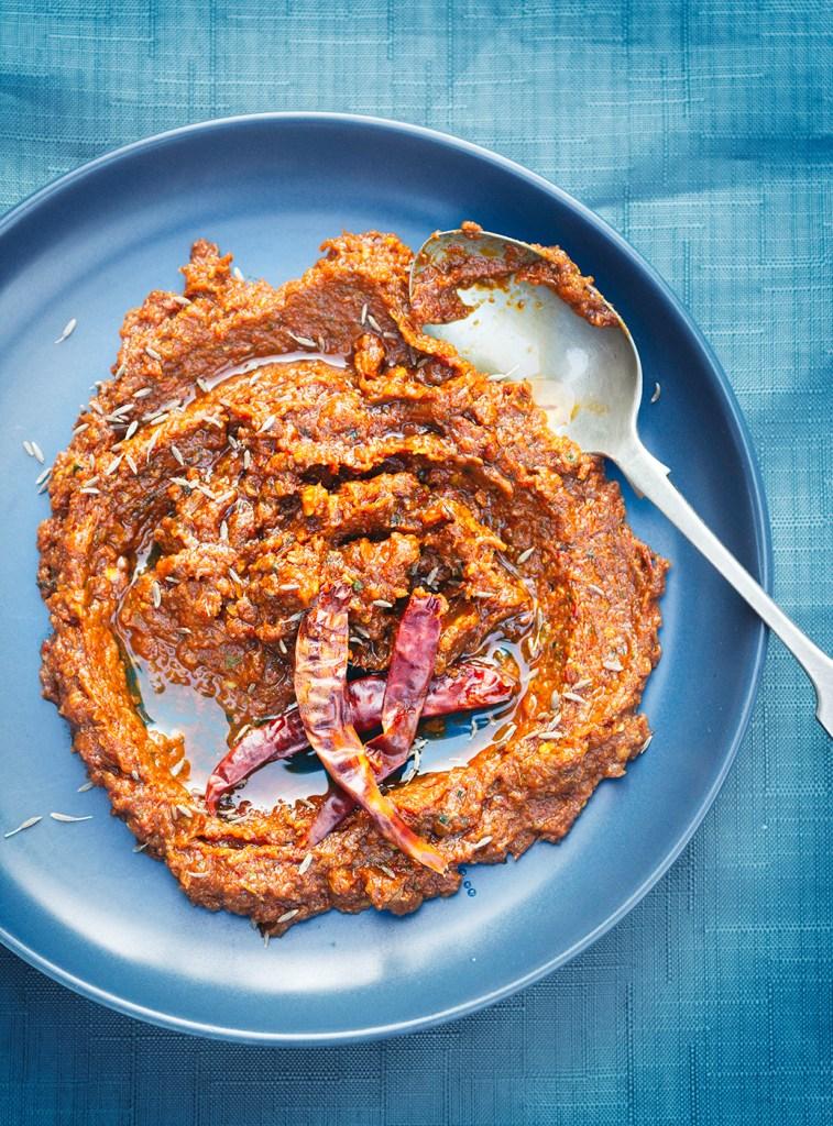 vegan Thai red curry paste