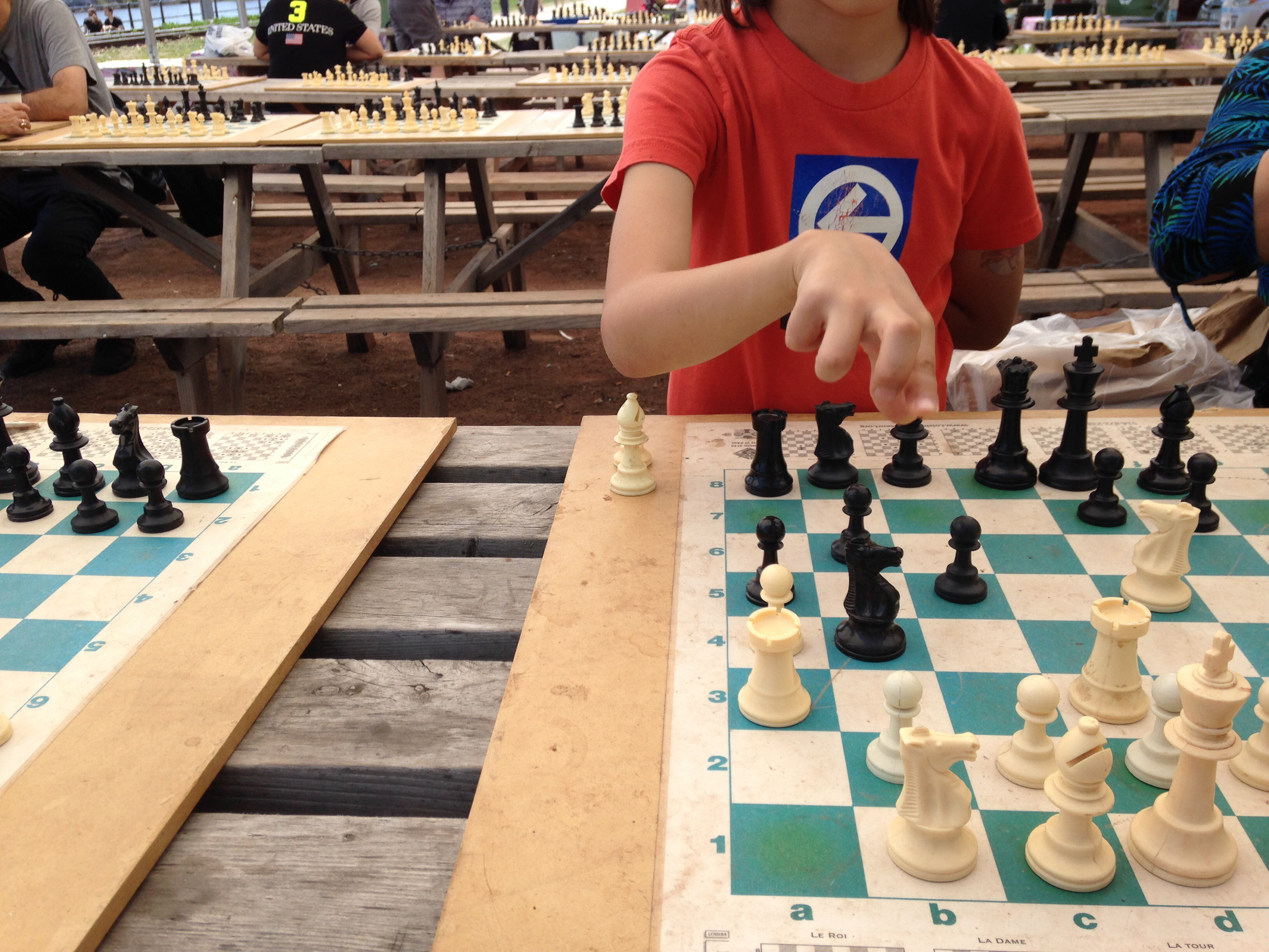Playing Chess at Atwater Market